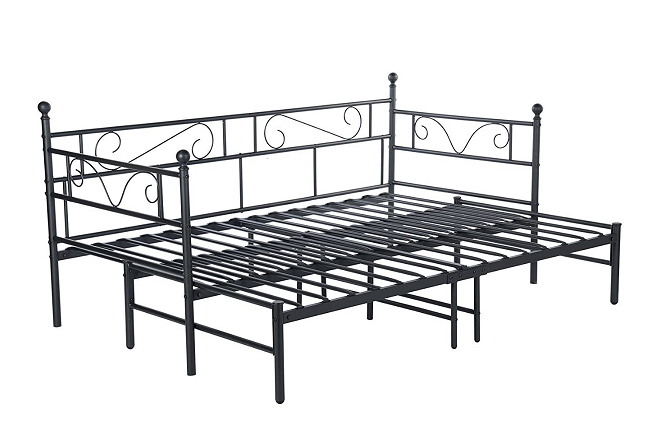 DORAFAIR Twin Daybed with Pull Out Trundle