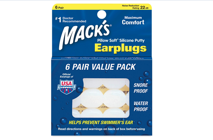 Macks Pillow Soft Moldable Silicone Putty Earplugs