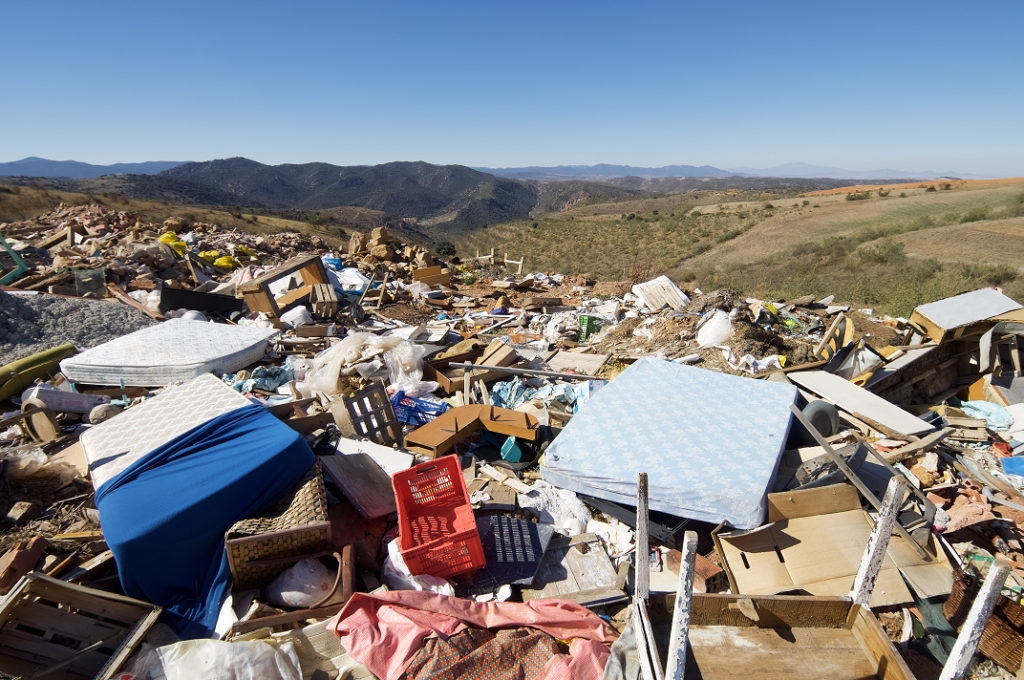 Old Mattresses Dumped at Landfill Sites