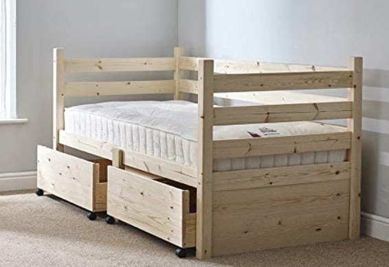 Ripvan Pine Day Bed with Storage Drawers