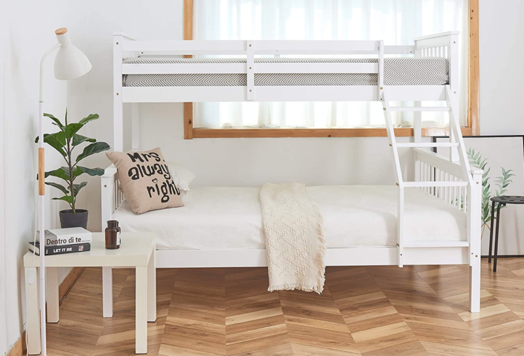 Triple Bunk Bed 3FT Single 4.6Ft Double Solid Pine Wood Bunk Bed